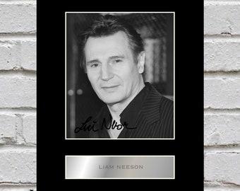 Liam Neeson 10x8 Mounted Signed Photo Print