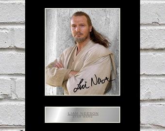 Liam Neeson 10x8 Mounted Signed Photo Print Star Wars