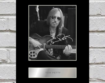 Tom Petty 10x8 Mounted Signed Photo Print