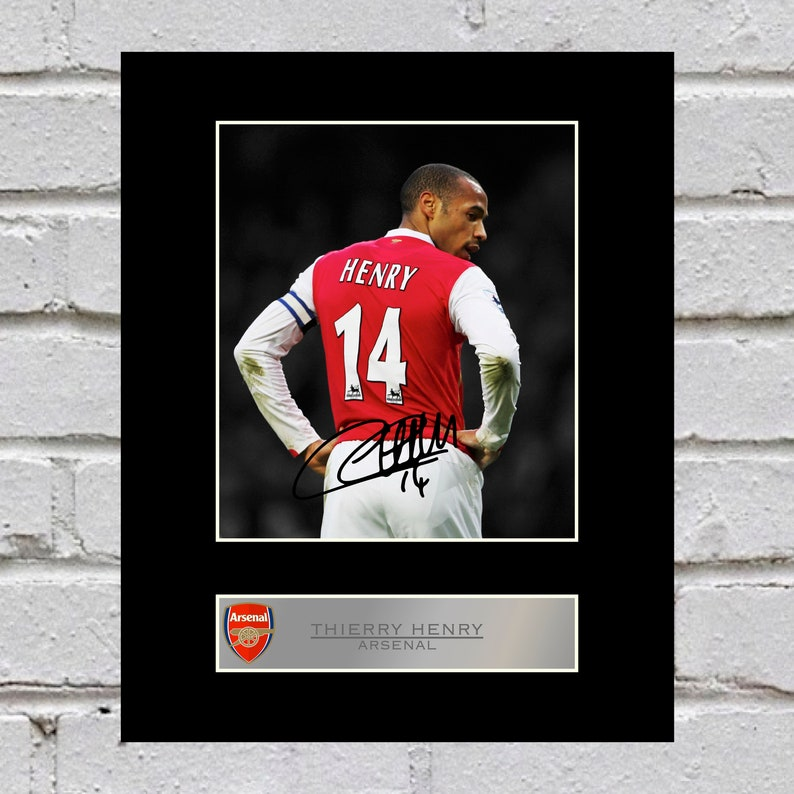 b39693a4391 Thierry Henry 10x8 Mounted Signed Photo Print Arsenal