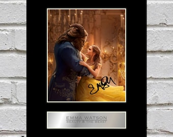 Emma Watson 10x8 Mounted Signed Photo Print Beauty and the Beast