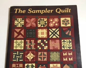 The Sampler Quilt Softcover book -  Quilting book - Pattern book - Fabric Patterns - Quilting