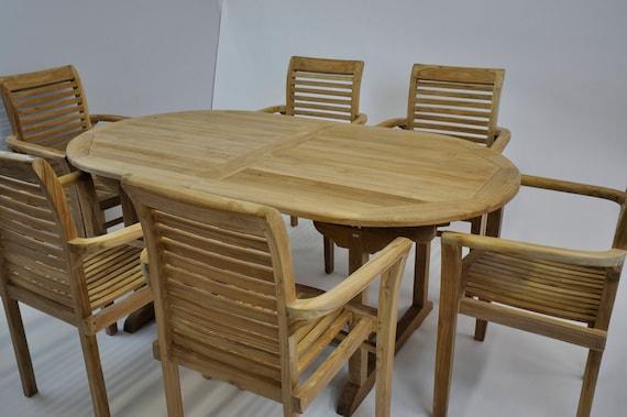 Oval Outdoor Teak Summer Extension Dining Table Teak Wood - Outdoor teak extension dining table