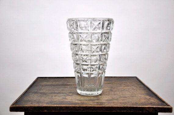 French Vintage Lead Crystal Vase Cristal Etsy
