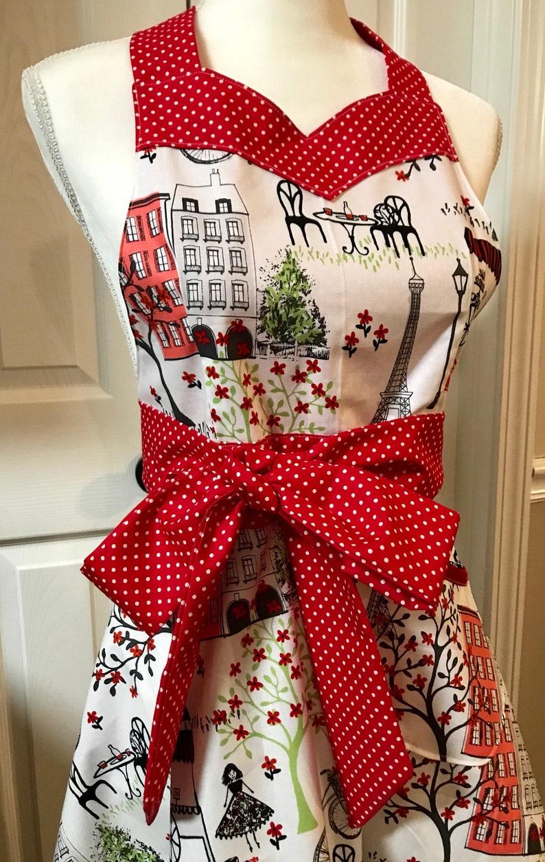 Beautiful Paris Inspired Apron Great Gift Idea