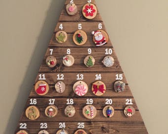 Advent Calendar, Christmas Advent Calendar, Christmas Countdown, Christmas Decorations, Holiday Decor, Holiday Ornaments, Rustic Holiday