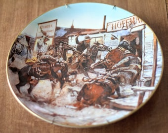 "Gorham Wild West Series ""In Without Knocking"" Collector's Plate, 1981"