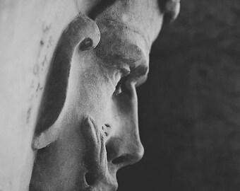 The face of a gargoyle