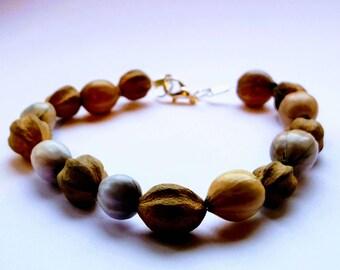 Beaded Nut Bracelet