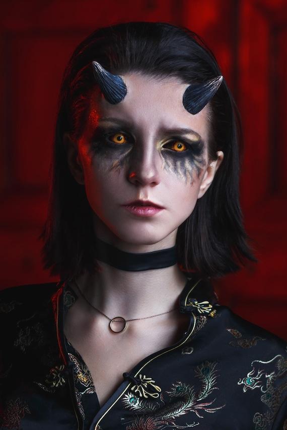 Short Demon Horns Prosthetics For Halloween Cosplay And Larp Devil Imp Horror Zabrak Animal Cow Deer Makeup