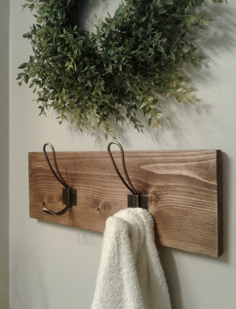 His And Hers Towel Hooks Double Hook Towel Rack Farmhouse Bathroom Hooks Robe Hooks