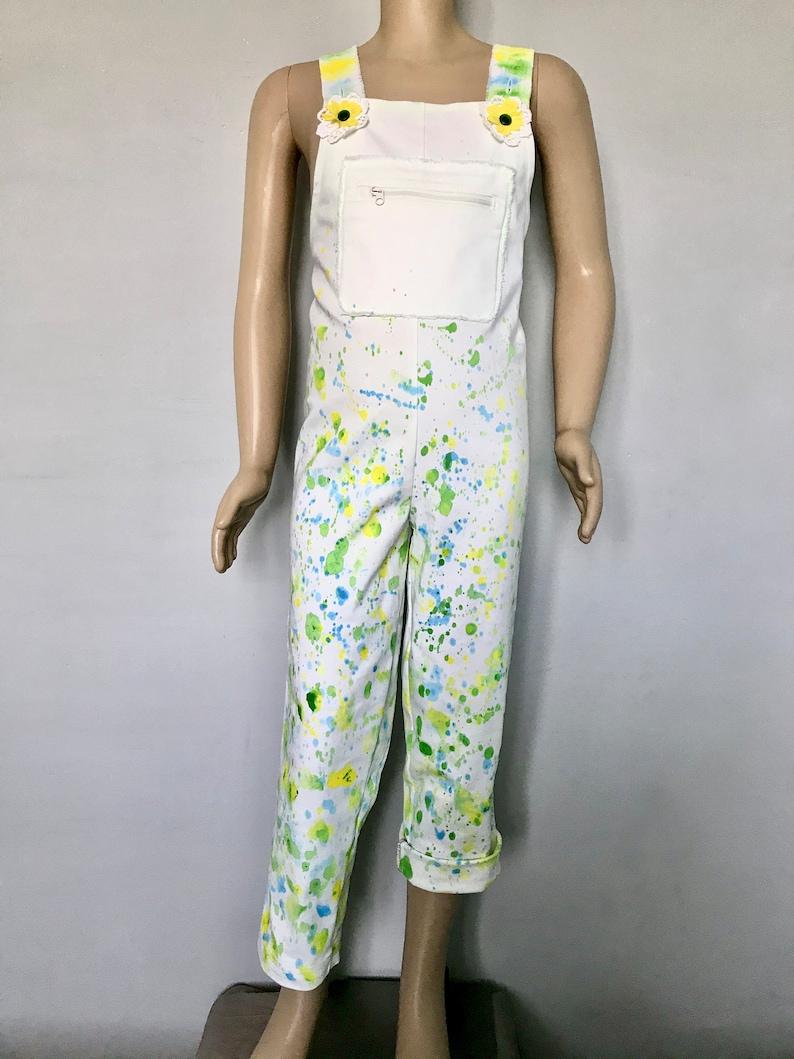 Upcycling-Overall for girls girls slacks  summer pants girls size 122-134