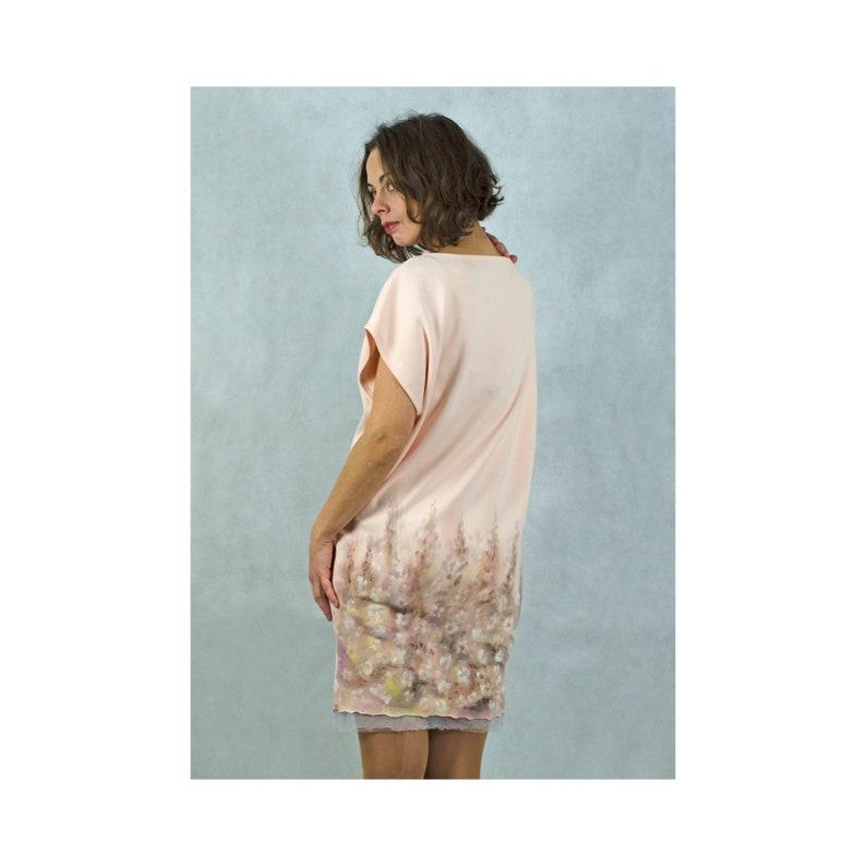Summer dress handpainted dress floral dress boho dress size 36