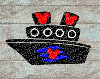 Disney Cruise Ship SVG, DXF, Jpeg, and Studio Downloads