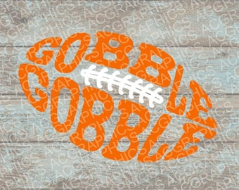 Gobble Gobble Football SVG, DXF, JPEG, and Studio Downloads
