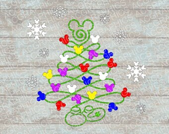 Mickey Christmas Tree SVG, DXF, JPEG, and Studio Downloads