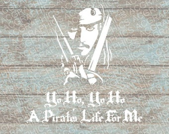 Yo Ho Jack Sparrow SVG, DXF, Jpeg, and Studio Downloads
