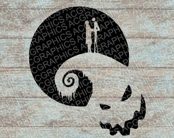 Nightmare Before Christmas SVG, DXF, Jpeg, and Studio Downloads