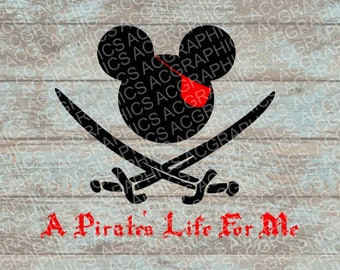 Pirate's Life For Me SVG, DXF, Jpeg, and Studio Downloads