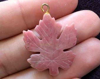 Pink Maple Leaf Pendant