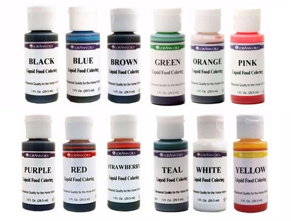 Liquid Food Coloring from LorAnn, Choose From 12 Colors, 1 oz, Color  Frosting, Hard Candy, Easter Eggs