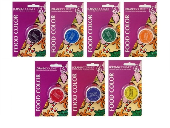Food Color Powder from LorAnn, Set of 7 Colors 4 grams each, Color  Chocolate, Bath Bombs, Dry Mixes