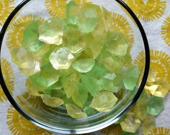 Lemon Lime Gems Hard Candy, Lemon Candy, Lime Candy, Vegan Candy, Hard Candy, Citrus Candy, Natural Flavor Candy