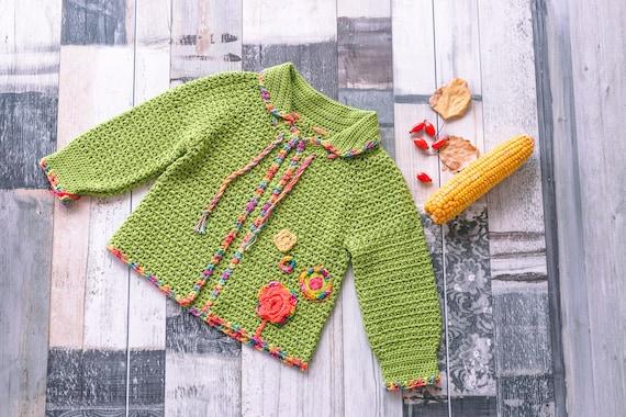 Häkeln Sie Baby Mädchen Pullover Einzigartige Baby Pullover Etsy