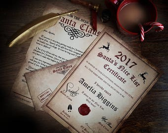 Personalised Letter From Santa/Father Christmas - Christmas Letter - Nice List Certificate - North Pole Letter