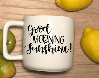 Vinyl Decal Good Morning Sunshine quote decal (available in multiple colors)