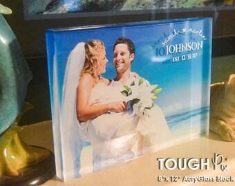 "ToughPix 8""x12"" High Definition Printed AcryGlass Photo Block"