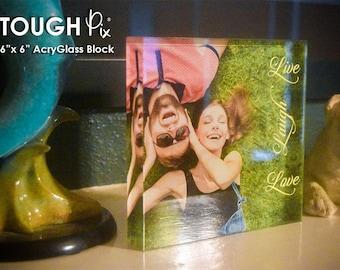 "ToughPix 6""x6"" High Definition Printed AcryGlass Photo Block"