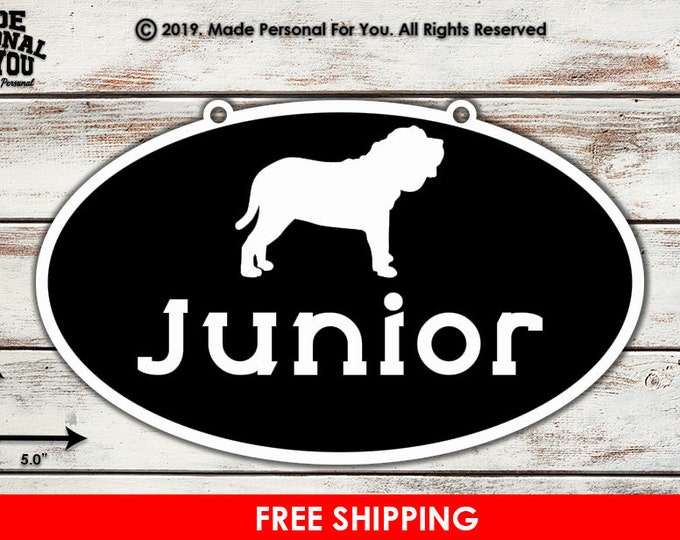 Featured listing image: Kennel/Crate Nameplate for Dogs and other Small Animals. Oval Design