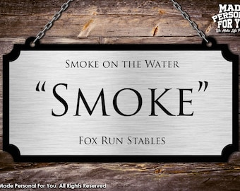Hanging Horse Stall Name Plate. Perfect For Horse Shows. Rectangle Design