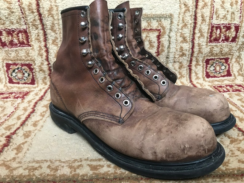 9d8f7d6297f Red Wing 2233 Steel Toe Brown Leather Work Boots Men's Vintage USA Size  11.5 B