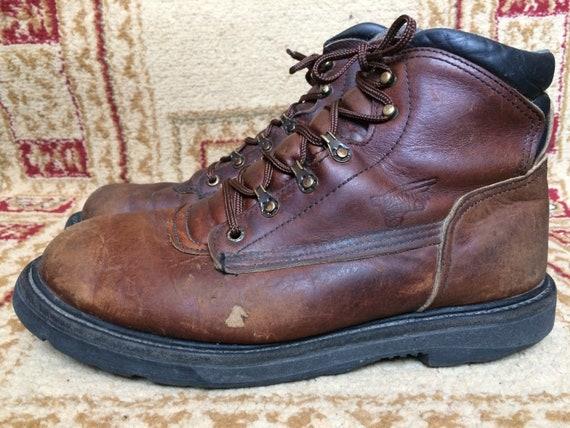 7856e6e7938 Men's Red Wing 963 EH TruWelt 6-inch Soft Toe Work BroBoots Sz 9 E2