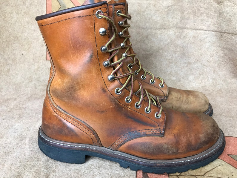 EUR 41.5 UK 7.5 Red Wing 2945 9 Logger Boots Work Boot Brown Sz US 8.5 D