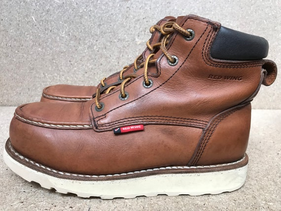 Red Wing 2296 Heritage Moc Brown Leather Aluminum