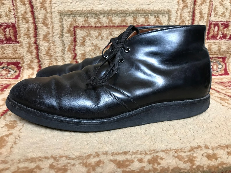 d8aed34b1 Red Wing 9196 Men's Heritage Black Leather Postman Chukka | Etsy