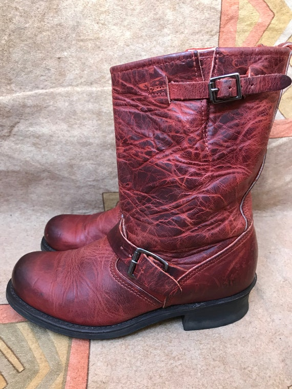 Frye Womens Engineer Motorcycle Leather Work Boots
