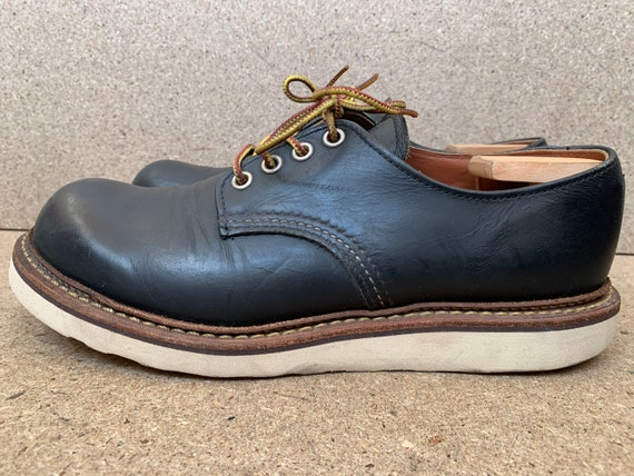 Red Wing Heritage 8002 Black Leather Plain Toe Oxf