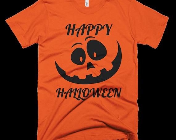Cute And Funny HAPPY HALLOWEEN Jack O'Lantern T-Shirt