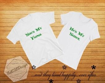 284c7f49c Disney Shirts, Couples Shrek Shirts, Matching Relationship Shirt, Disneys  Shrek Happily Ever After T-Shirt, Family Shirt,