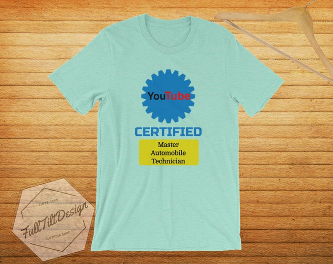 Youtube Certified Master Automobile Technician T-Shirt