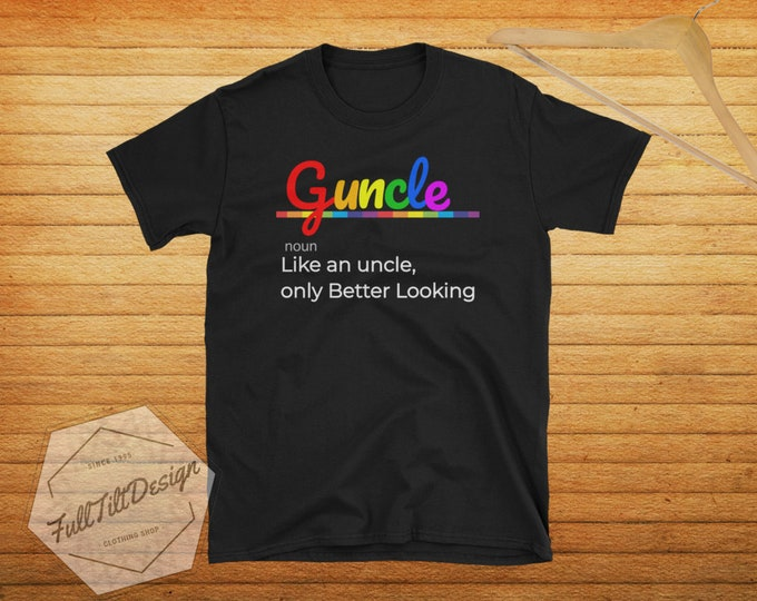 Featured listing image: Gay Pride Guncle - Gay Uncle T-Shirt