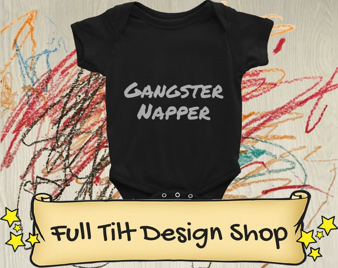 Gangster Napper Baby Onesie