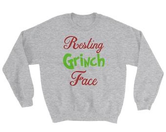 Resting Grinch Face Sweatshirt