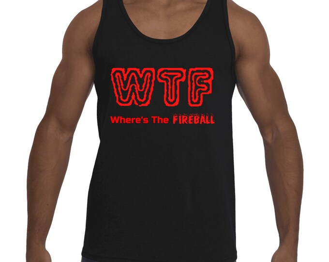 WTF Where's The Fireball Whiskey Men's Tank-Top