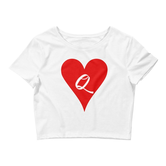 Queen Of Hearts Alice In Wonderland Disney Women's Crop Tee