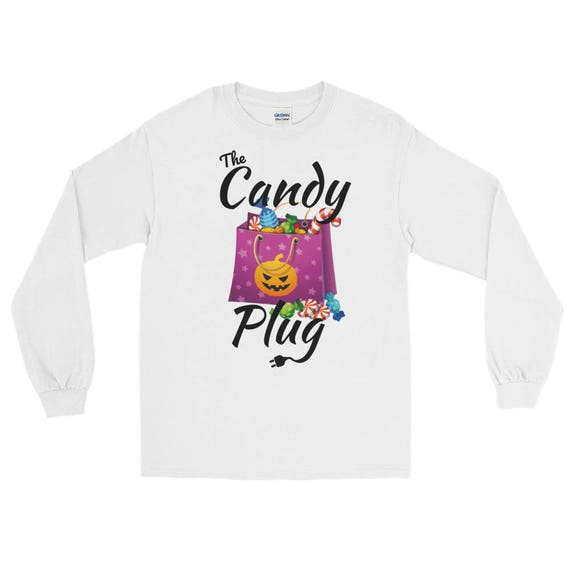 The Candy Plug Halloween Funny Long Sleeve T-Shirt